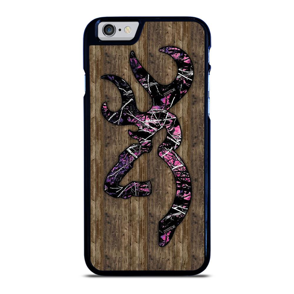 CAMO BROWNING PINK WOOD iPhone 6 / 6S Hoesje - goedhoesje