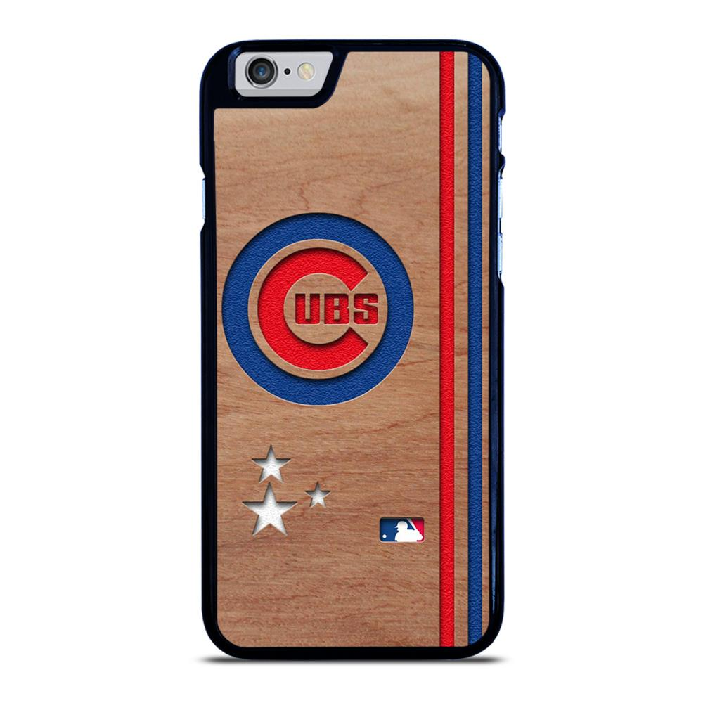 CHICAGO CUBS UBS MLB WOODEN LOGO iPhone 6 / 6S hoesje