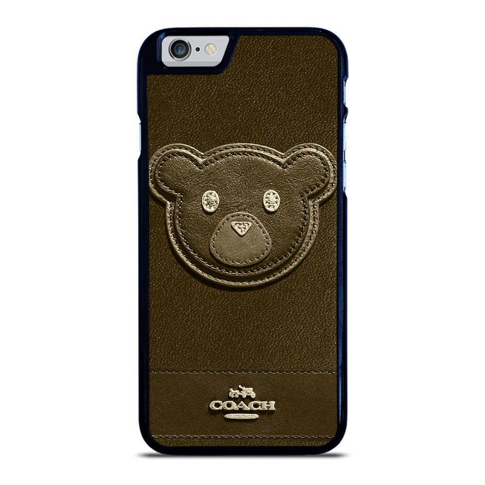 COACH NEW YORK BROWN BEAR iPhone 6 / 6S hoesje
