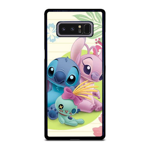 coque custodia cover fundas hoesjes j3 J5 J6 s20 s10 s9 s8 s7 s6 s5 plus edge D21648 DISNEY STITCH AND GIRLFRIEND Samsung Galaxy Note 8 Case