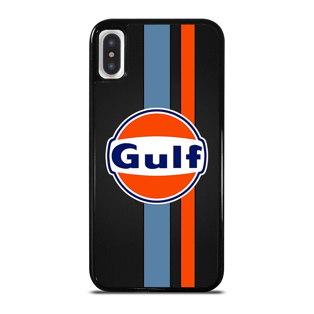 GULF OIL MOTOR CARBON LOGO iPhone X / XS Hoesje