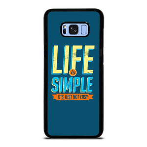 LIFE IS SIMPLE QUOTE Samsung Galaxy S8 Plus Hoesje,samsung galaxy s8 plus hoesje origineel samsung s8  hoesje,LIFE IS SIMPLE QUOTE Samsung Galaxy S8 Plus Hoesje