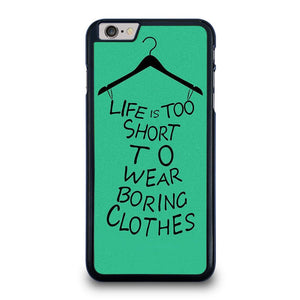 LIFE IS TOO SHORT QUOTE iPhone 6 / 6S Plus Hoesje