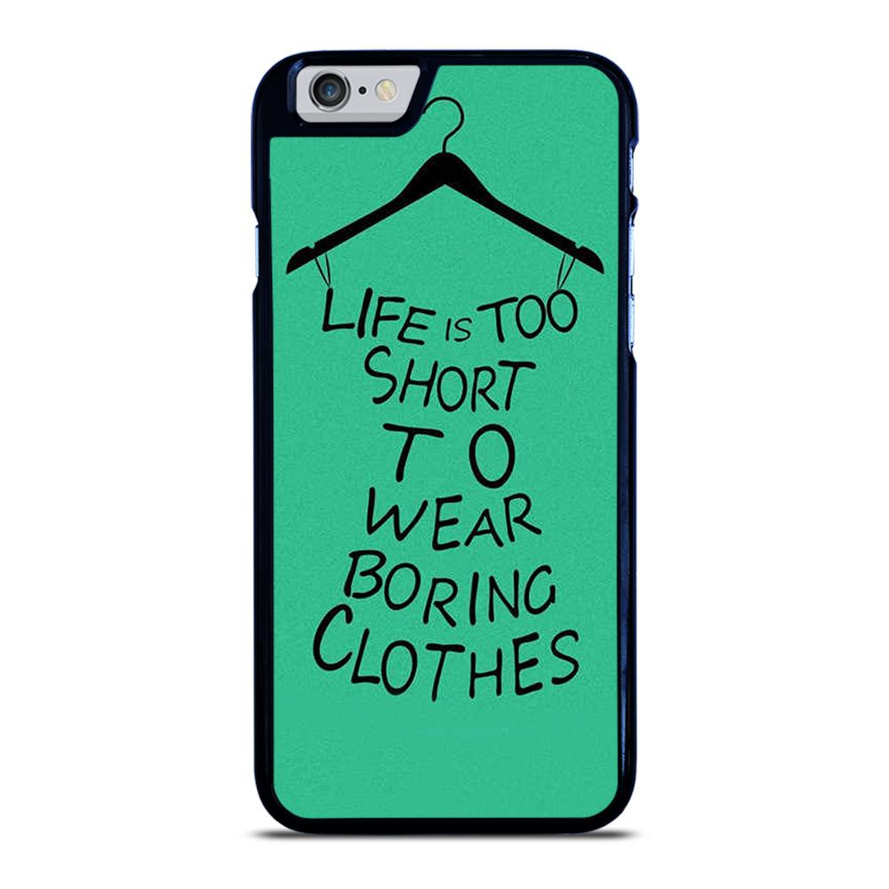 LIFE IS TOO SHORT QUOTE iPhone 6 / 6S hoesje