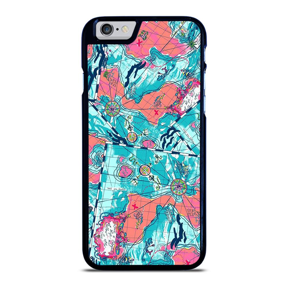 LILLY PULITZER MAP PATTERN iPhone 6 / 6S hoesje - samsung hoesjes|iphone hoesjes|huawei hoesjes favohoesje.nl