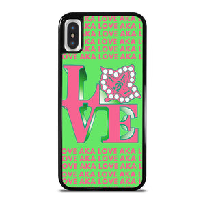 LOVE AKA PINK AND GREEN iPhone X / XS Hoesje