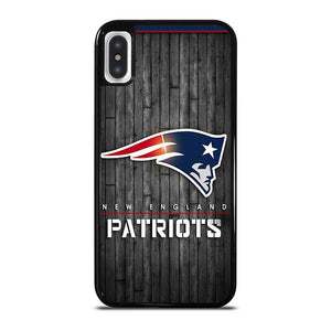 NEW ENGLAND PATRIOTS WOODEN LOGO iPhone X / XS Hoesje