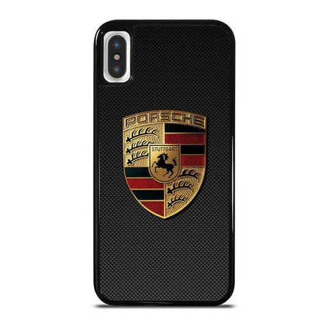 PORSCHE LOGO CARBON iPhone X / XS Hoesje