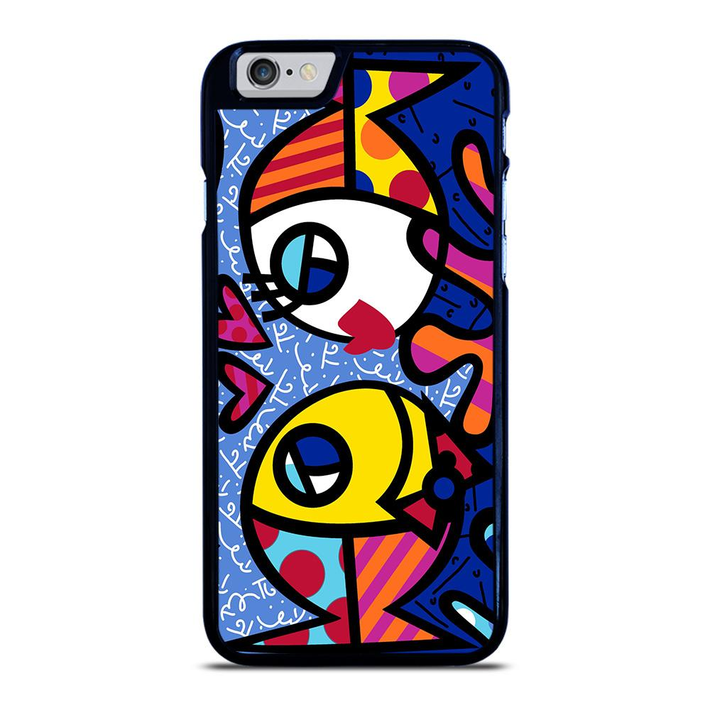 ROMERO BRITTO FISH LOVE iPhone 6 / 6S hoesje - goedhoesje