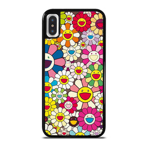 TAKASHI MURAKAMI FLOWERS COLLAGE iPhone X / XS Hoesje