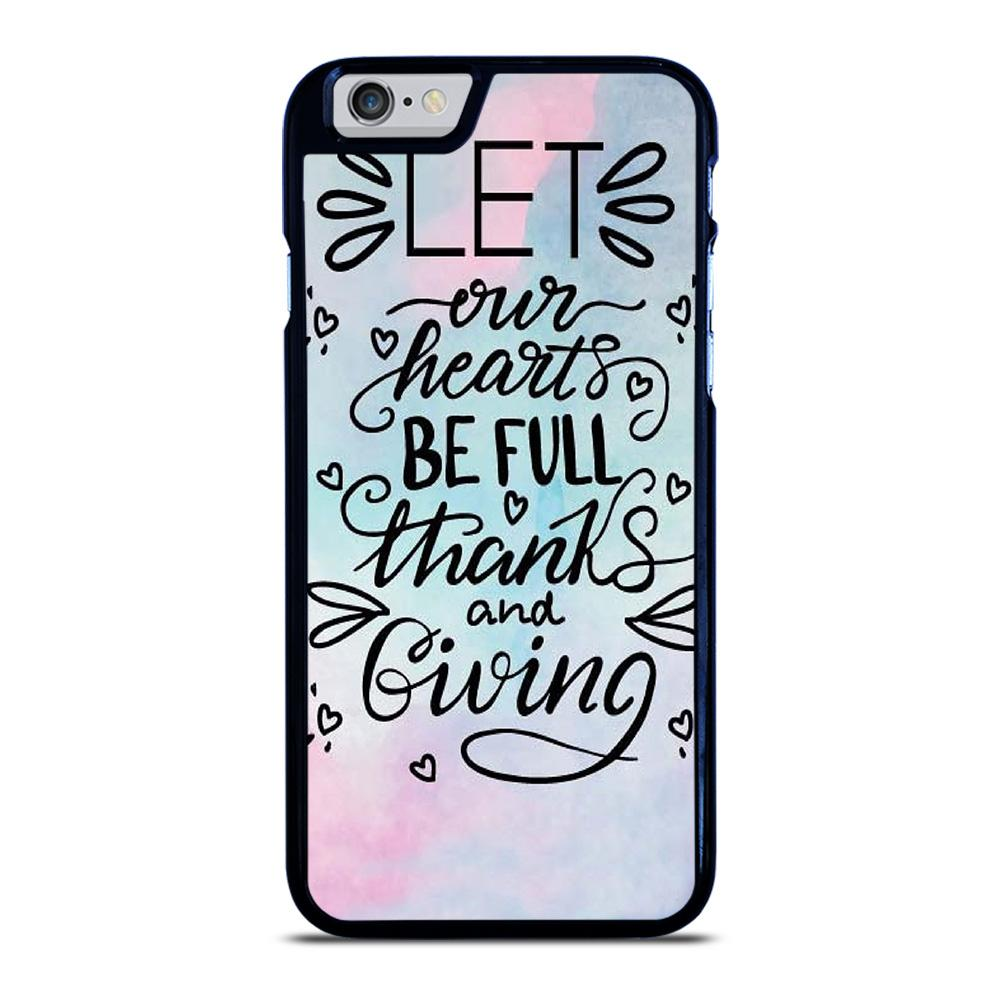 THANKS AND GIVING QUOTE iPhone 6 / 6S hoesje - goedhoesje
