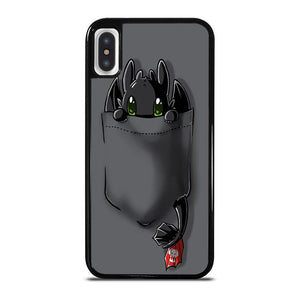 TOOTHLESS CUTE POCKET iPhone X / XS Hoesje