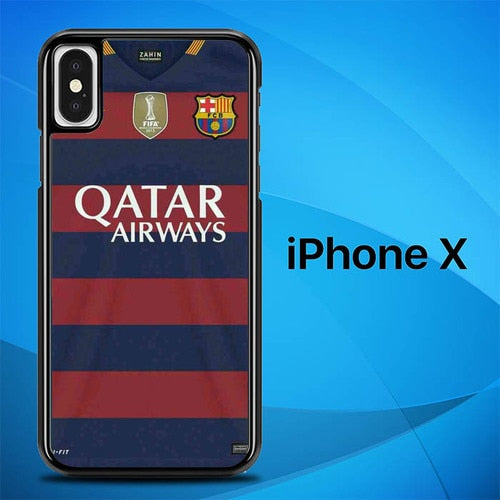 Jersey Barcelona O1043 hoesjes iPhone X, XS