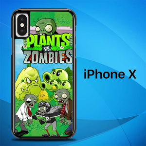 Plants Zombie O3131 hoesjes iPhone X, XS