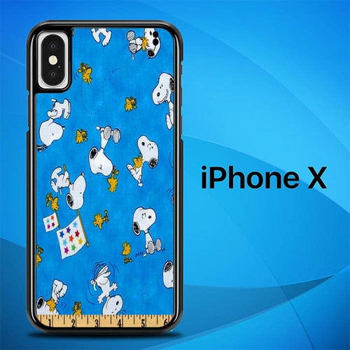 Snoopy Ruler O3289 hoesjes iPhone X, XS
