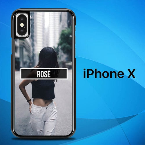 Rose Blackpink Personile O5082 hoesjes iPhone X, XS