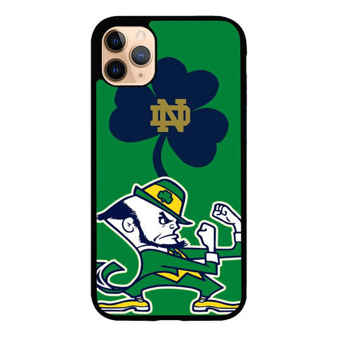 coque custodia cover case fundas hoesjes iphone 11 pro max 5 6 6s 7 8 plus x xs xr se2020 pas cher X9527 Notre Dame Fighting Irish logo Z3204
