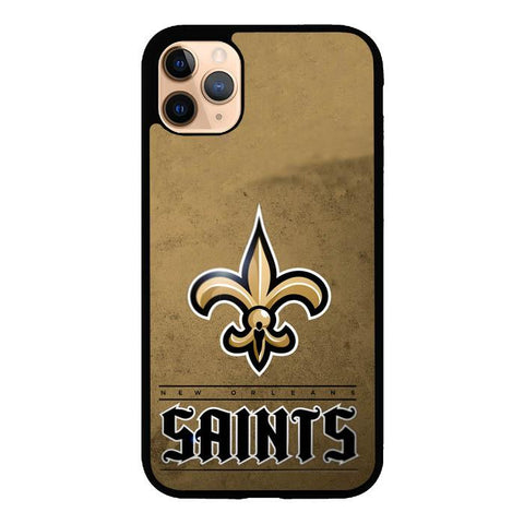 coque custodia cover case fundas hoesjes iphone 11 pro max 5 6 6s 7 8 plus x xs xr se2020 pas cher X9487 New Orleans Saints Z4149
