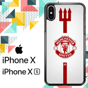 manchester united logo Z5031 hoesjes iPhone X, XS