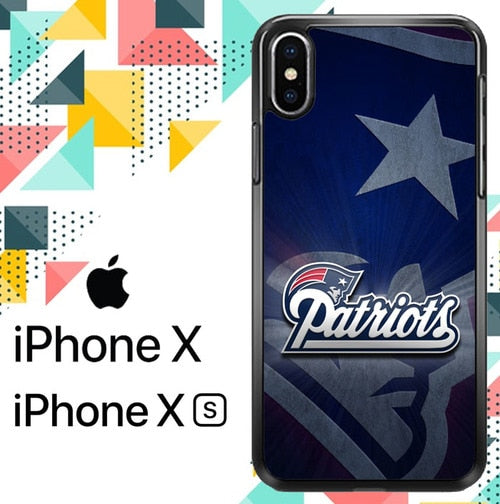 New England Patriots Logo Z5307 hoesjes iPhone X, XS