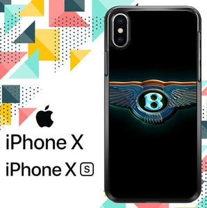 BENTLEY LOGO GLOW Z5356 hoesjes iPhone X, XS