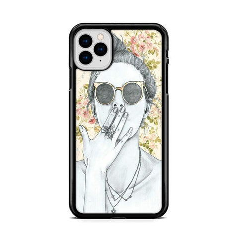 Cool Girl Sketch iPhone 11 hoesjes Pro Max