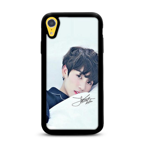 BTS Jungkook Photo Wallpaper iPhone XR hoesjes