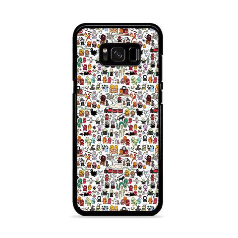 Harry Potter Pattern Wallpaper Samsung Galaxy S8 Plus hoesjes