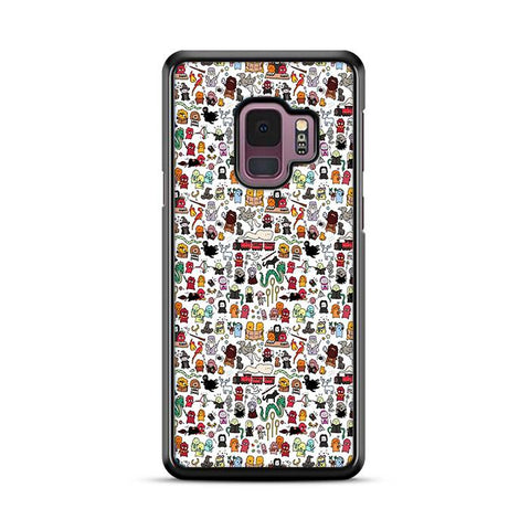 Harry Potter Pattern Wallpaper Samsung Galaxy S9 Plus hoesjes