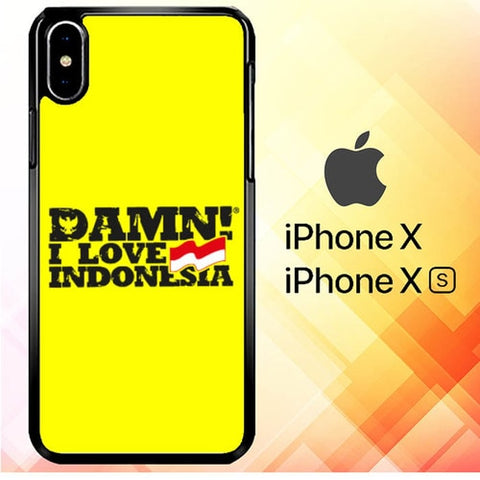 Damn I Love Indonesia P1066 hoesjes iPhone X, XS