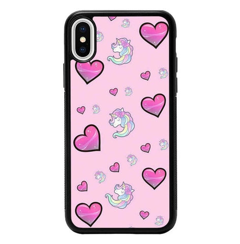 Unicorn Love Pattern P2009 hoesjes iPhone X, XS
