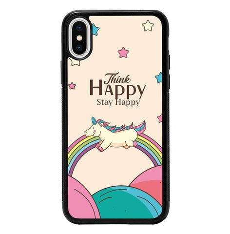 Think Happy Stay Happy P2028 hoesjes iPhone X, XS
