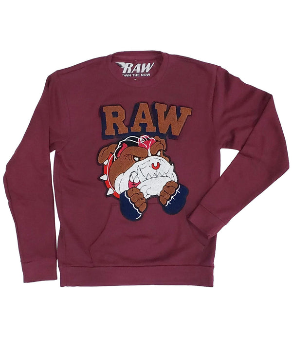 Bulldog Chenille Long Sleeves - Maroon
