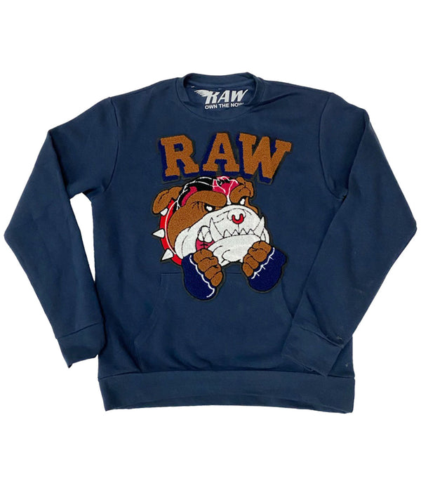 Bulldog Chenille Long Sleeves - Navy