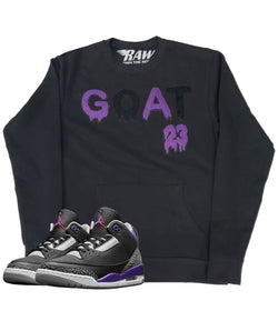 GOAT Purple Chenille Long Sleeves - Black
