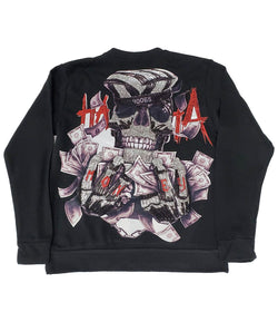 HATA Skull Hand Made Sequin Long Sleeves - Black