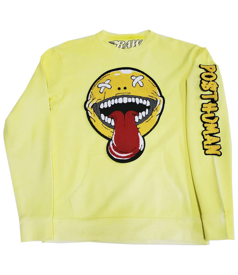 Happy Day Chenille Long Sleeves - Yellow Dye