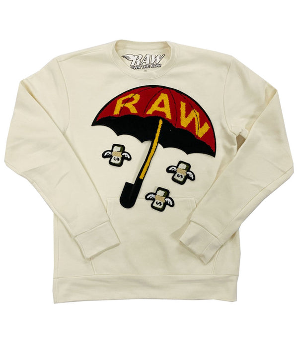Rain It Fly Chenille Long Sleeves - Cream