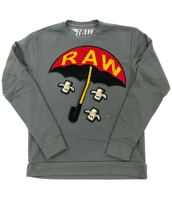 Rain It Fly Chenille Long Sleeves - Heavy Metal