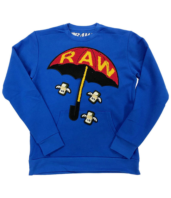 Rain It Fly Chenille Long Sleeves - Royal