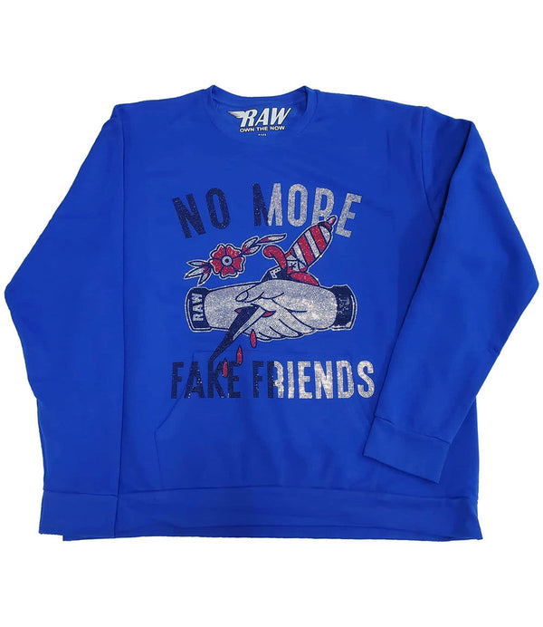 More Fake Friends Bling Long Sleeves - Royal