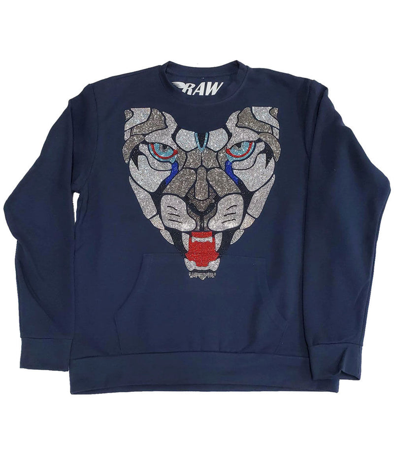 Panther Bling Long Sleeves - Navy