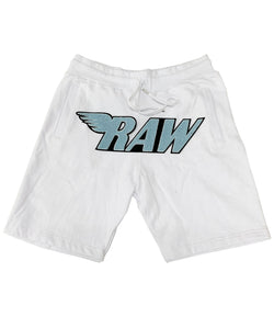 RAW Baby Blue Chenille Cotton Shorts