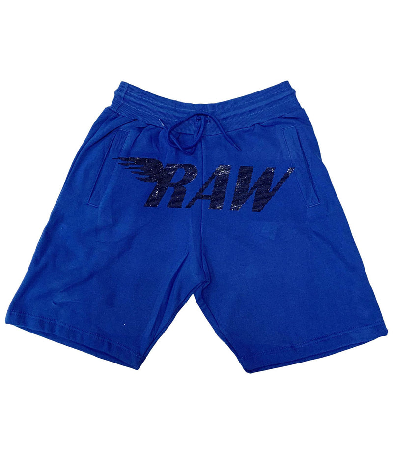 RAW Black Bling Cotton Shorts
