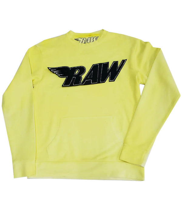 RAW Black Chenille Long Sleeves - Yellow Dye