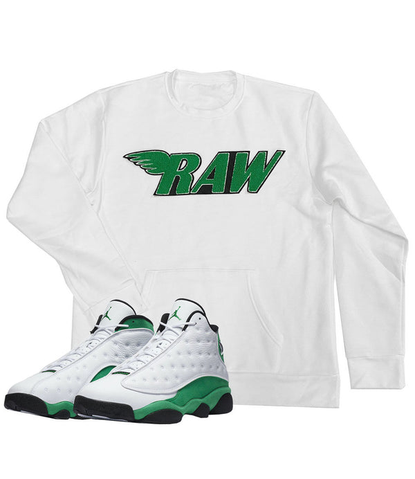 RAW Green Chenille Long Sleeves - White