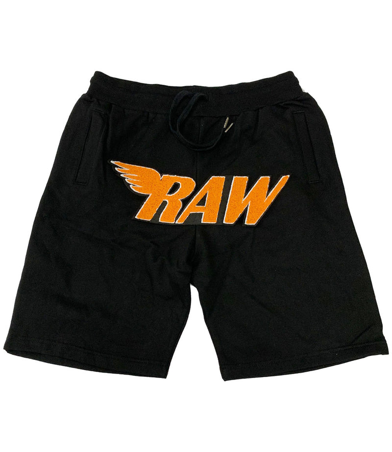 RAW Orange Chenille Cotton Shorts