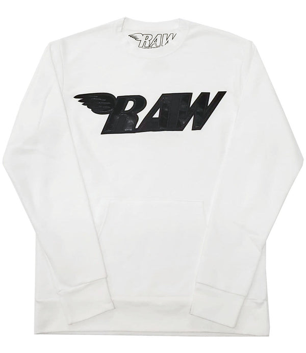RAW PU Black Long Sleeves - White