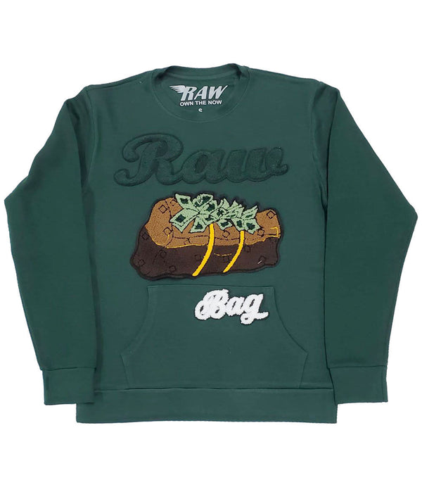 RAW Bag Chenille Long Sleeves - Forest Green