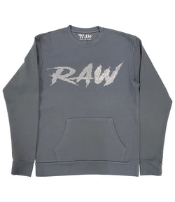 Cursive RAW AB. Clear Bling Long Sleeves - Heavy Metal